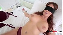 blindfolded mommy thinks it s her hubby