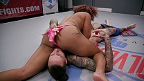 daisy ducati and ruckus get down dirty and fuck on the wrestling mat