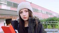 nasty italian teen fucks behind school