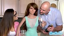 realdoll threesome jmac and kelsi monroe t rex cuckold